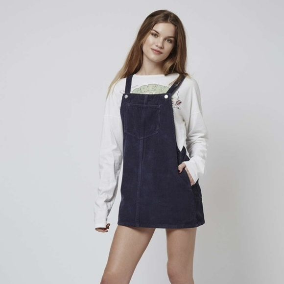 Super discount superior performance outlet on sale Topshop Moto Cord Pinafore Dress